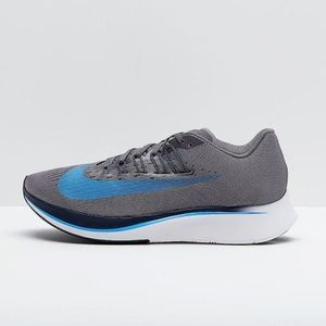 Nike Zoom Fly Gray/Blue Running Shoes Size 10 US